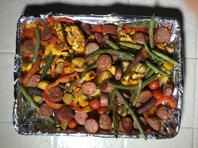 One Pan #Whole30 Sausage and Veggie Meal Prep