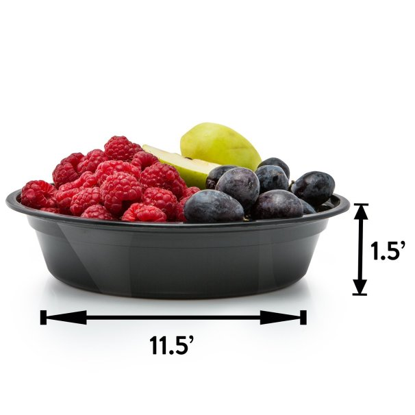 round meal prep container size