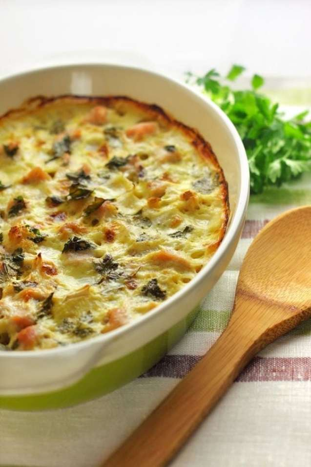 Baked Chicken, Spinach & Cauliflower