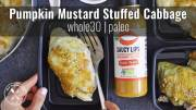 Pumpkin Mustard Stuffed Cabbage Meal Prep Recipe