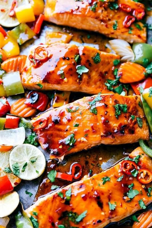 Thai Glazed Salmon Sheet Pan Recipes