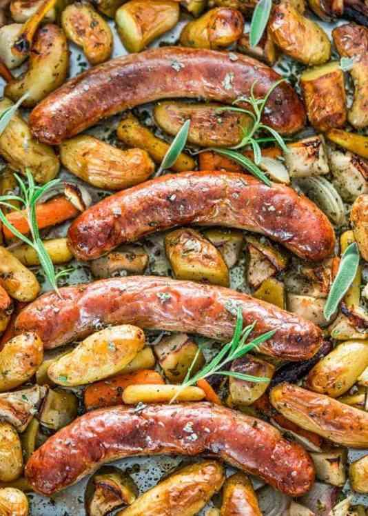 Baked Sausage and Apple Sheet Pan Recipes