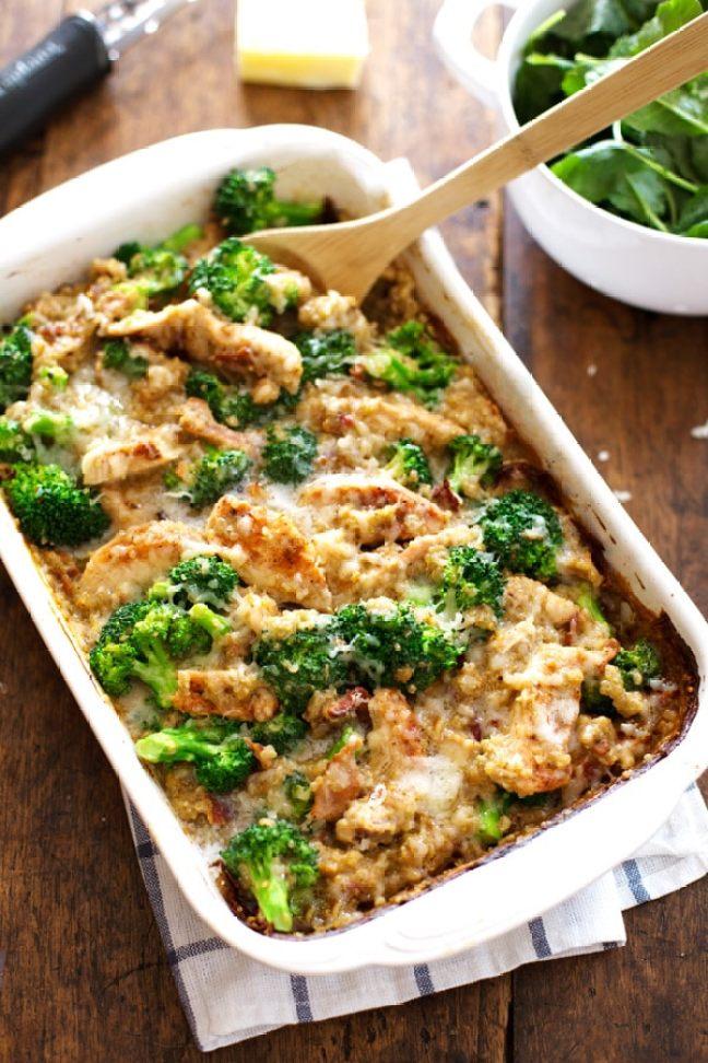 Creamy Chicken Quinoa Broccoli Lunch Recipe