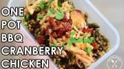 One Pot Crockpot BBQ Chicken Meal Prep recipe
