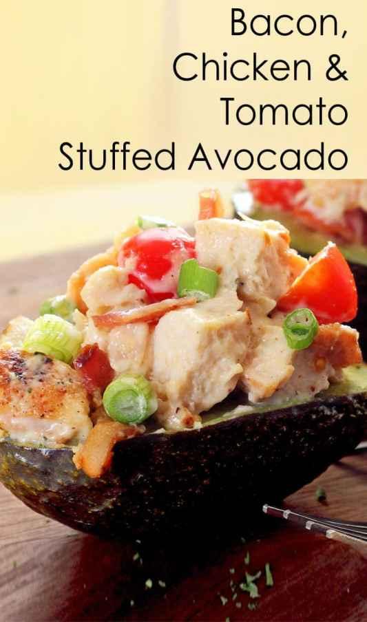 Chicken Stuffed Avocado recipe - Keto Lunch Ideas