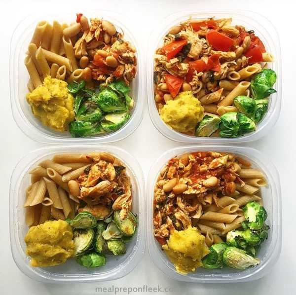 meal prep recipe - shredded chicken bowl