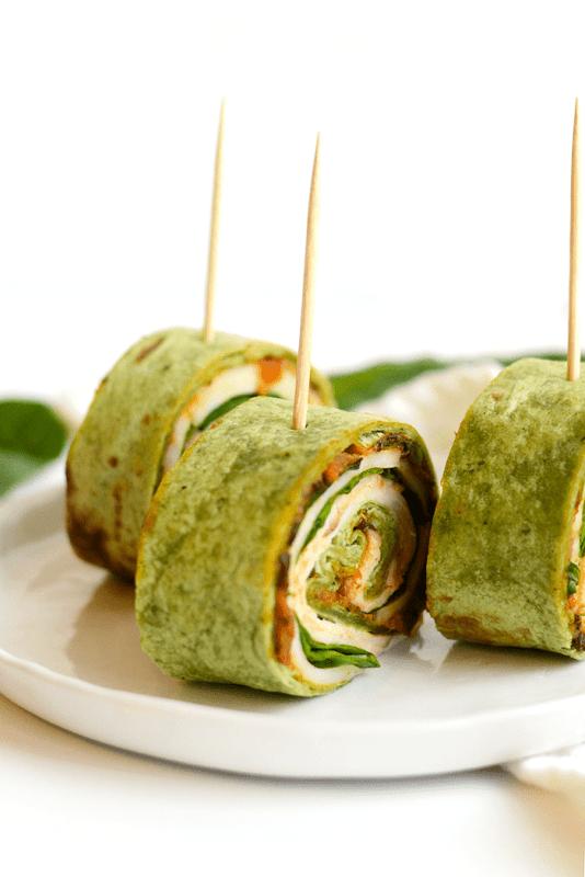 foods that burn fat - turkey roll up