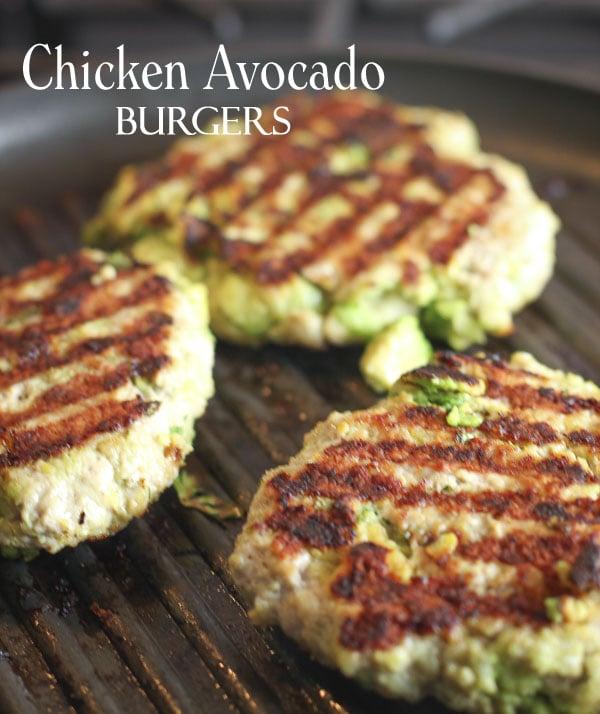 Paleo Chicken Avocado Burger