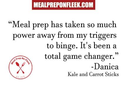 meal prep helps binge eating