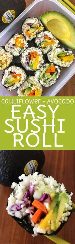 Flavors + Colors + Nutrition = 100% home run with this Vegan Avocado & Mango Sushi! Roll