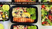 Quinoa Salad with Grilled Salmon