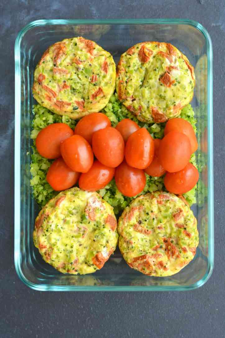 Broccoli Rice Red Pepper Egg Muffins