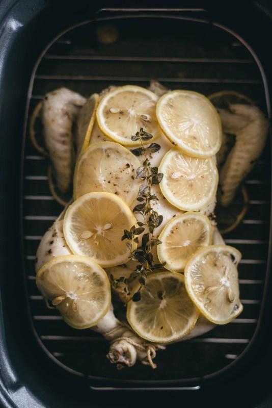 Slow Cooker Lemon Garlic Chicken Meal Prep