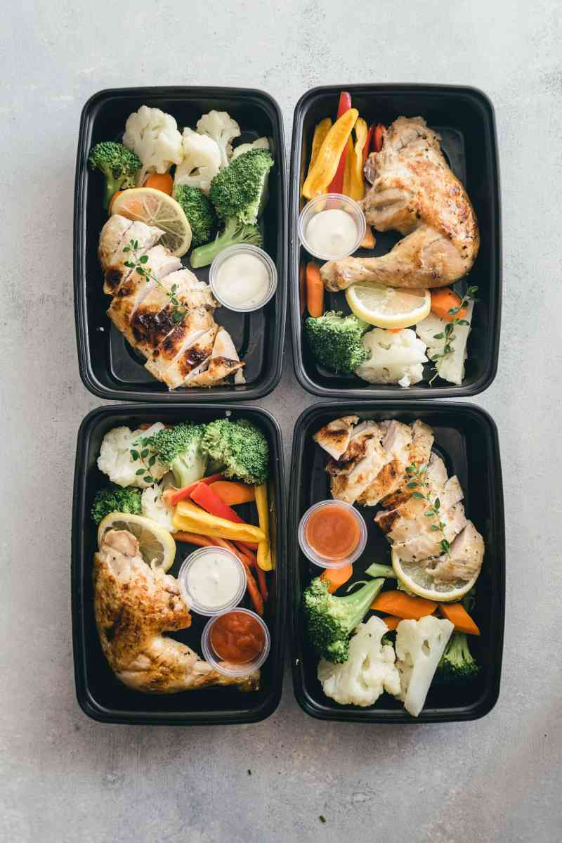 Slow Cooker Lemon Garlic Chicken Meal Prep