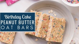 Meal Prep Recipe - Birthday Cake Peanut Butter Oat Bars