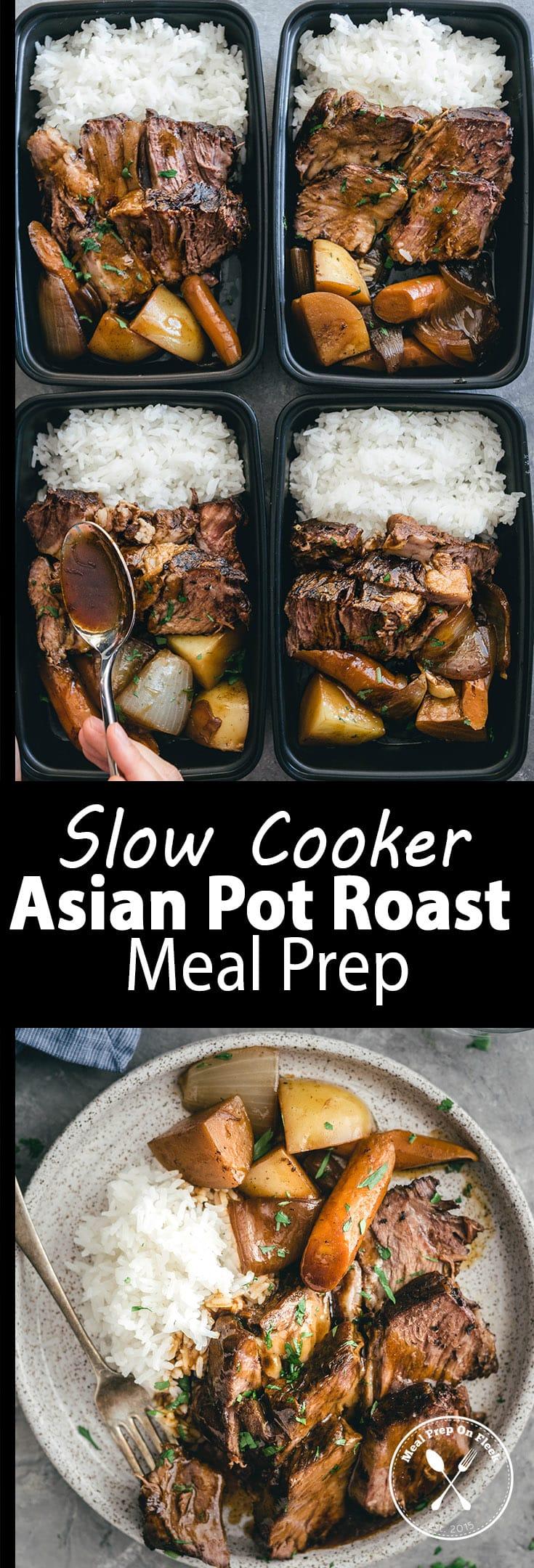 Slow Cooker Asian Pot Roast Meal Prep Recipe