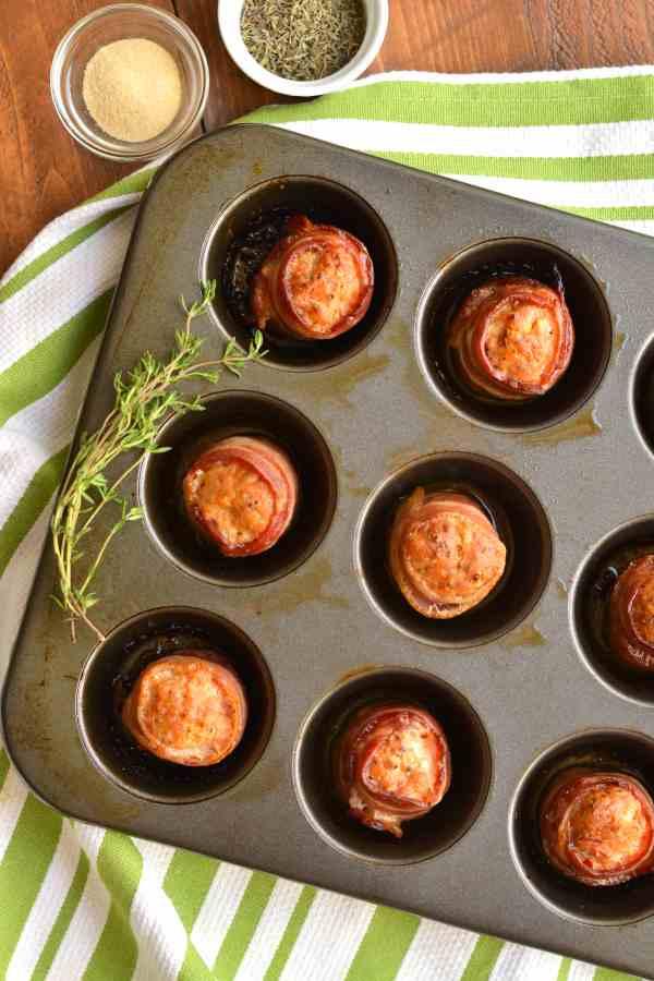 Easy Keto Bacon Sausage Meatballs