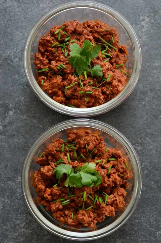 10 Minute Chili Meal Prep