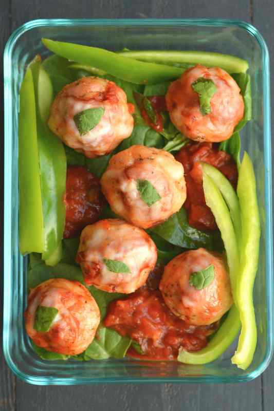 Cheesy Low Carb Chicken Meatballs