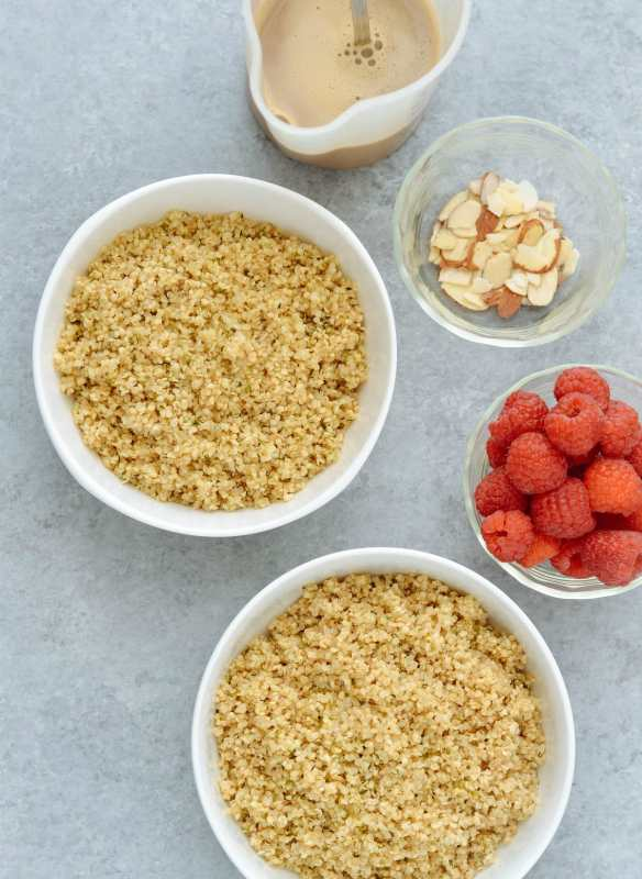 Coffee Almond Quinoa Breakfast Bowl