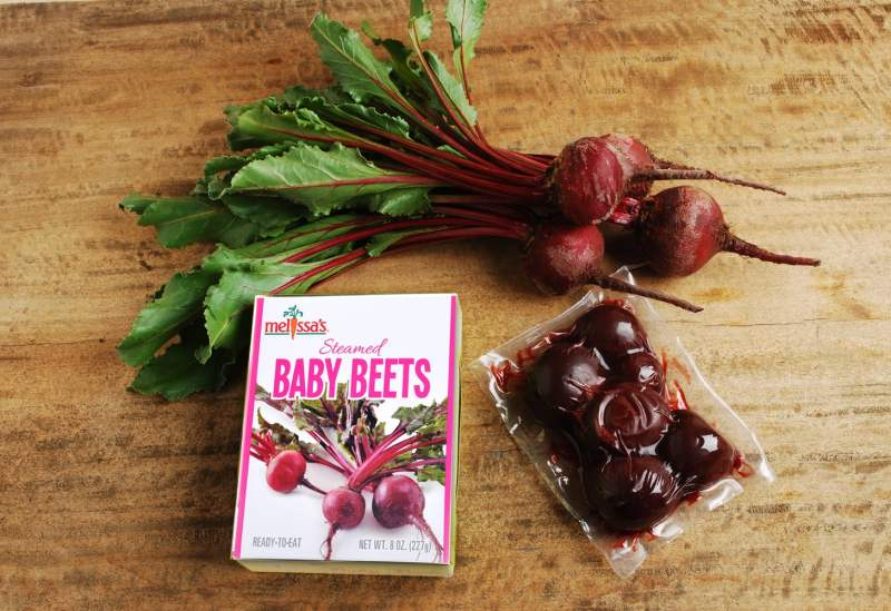fresh and steamed beets
