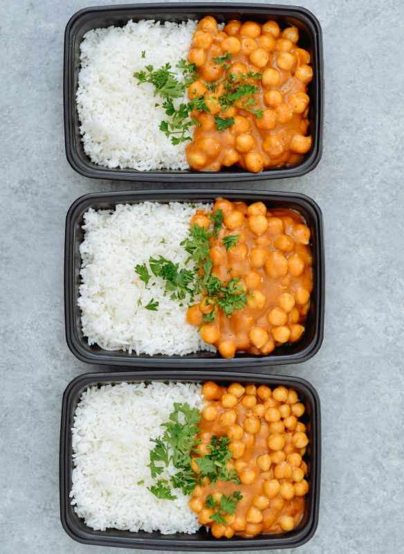 Vegan Chickpea Curry & Basmati Rice