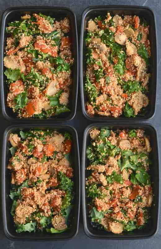 Vegan Mushroom Quinoa Breakfast Hash