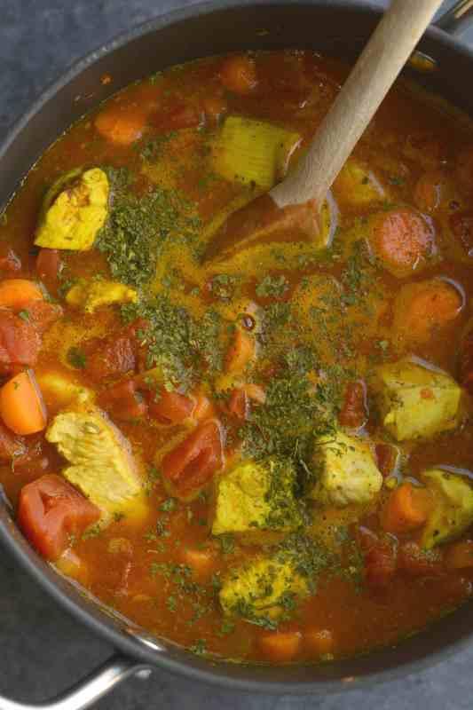 Moroccan Turmeric Chicken Stew