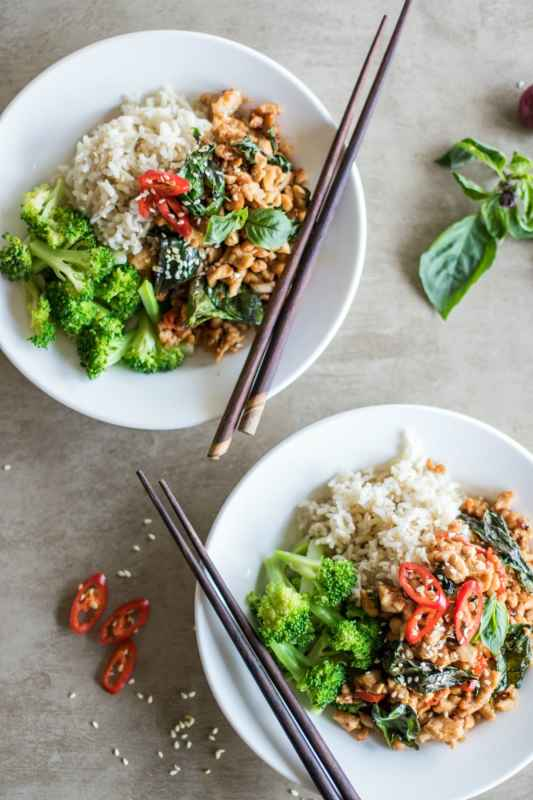 Thai Basil Chicken Meal Prep