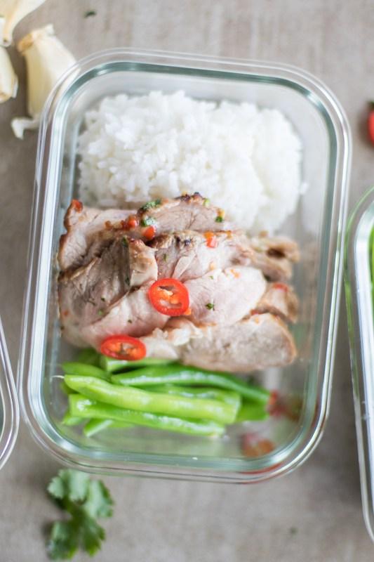 Thai Sweet Chili Pork Tenderloin Meal Prep