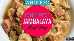 One Pot (Whole30) Jambalaya Meal Prep blog