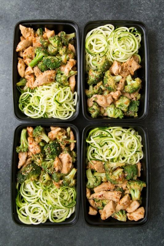 Keto Sesame Chicken & Broccoli Stir Fry Meal Prep