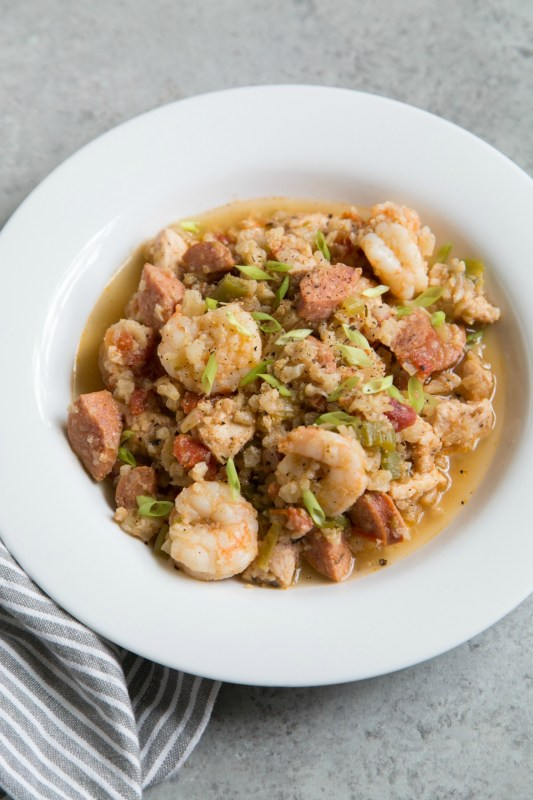 One Pot Whole30 Jambalaya Meal Prep