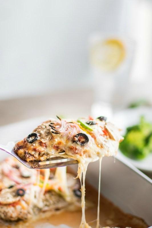 Veggie Supreme Pizza Chicken Meal Prep