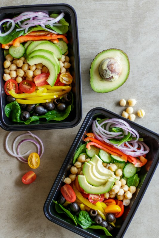 Vegan Chopped Chickpea Greek Salad Meal Prep Meal Prep On Fleek