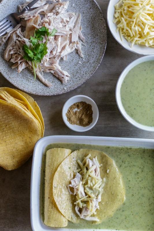 Salsa Verde Chicken Enchiladas Meal Prep Meal Prep On Fleek