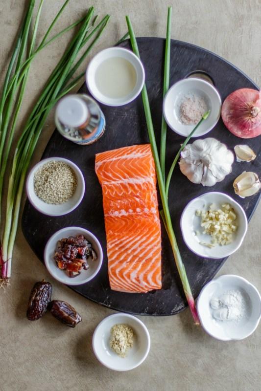 Whole30 Teriyaki Salmon & Pineapple Skewer Meal Prep
