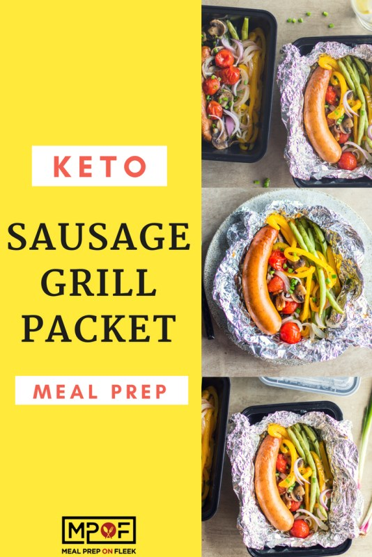 Keto Sausage Grill Packet Meal Prep blog
