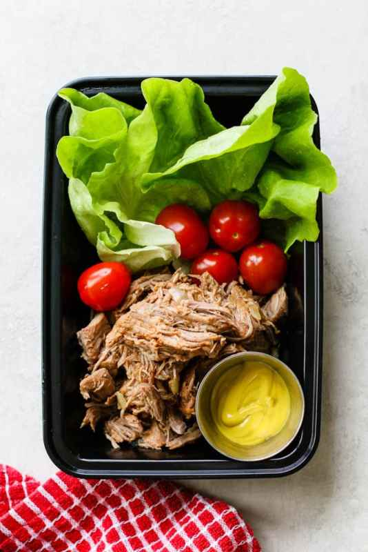 Keto Pulled Pork Lettuce Wrap Meal Prep
