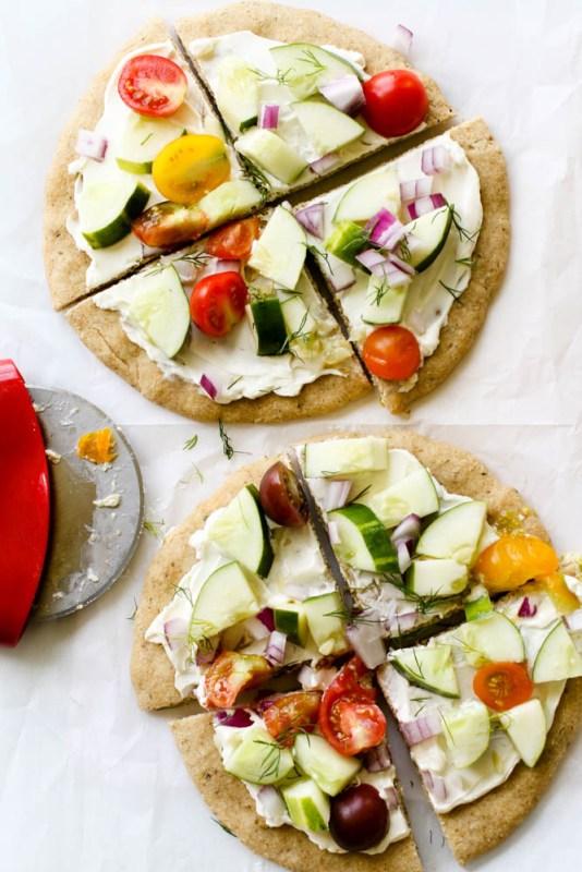 Cold Veggie Pizza Meal Prep