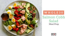 Whole30 Salmon Cobb Salad Meal Prepblog