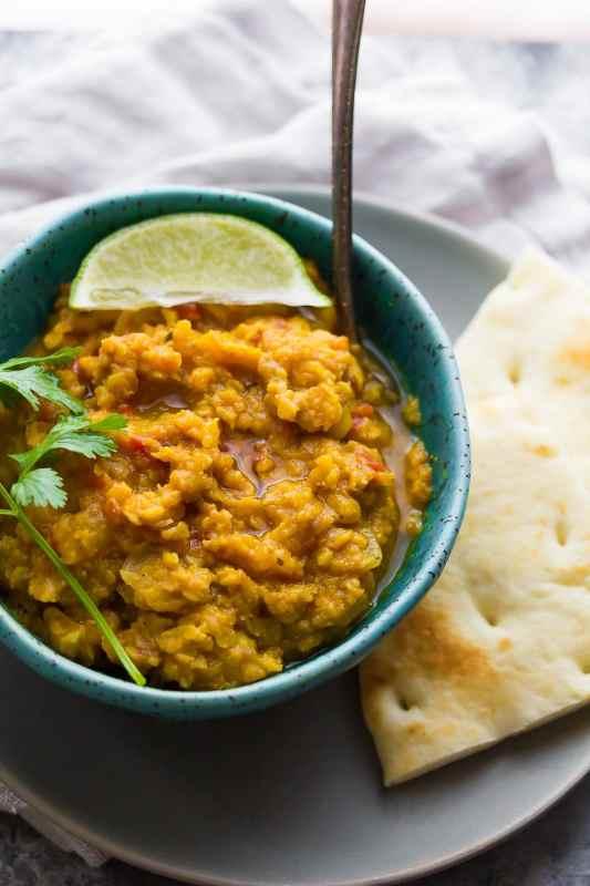Slow Cooker Butternut Squash Lentil Curry