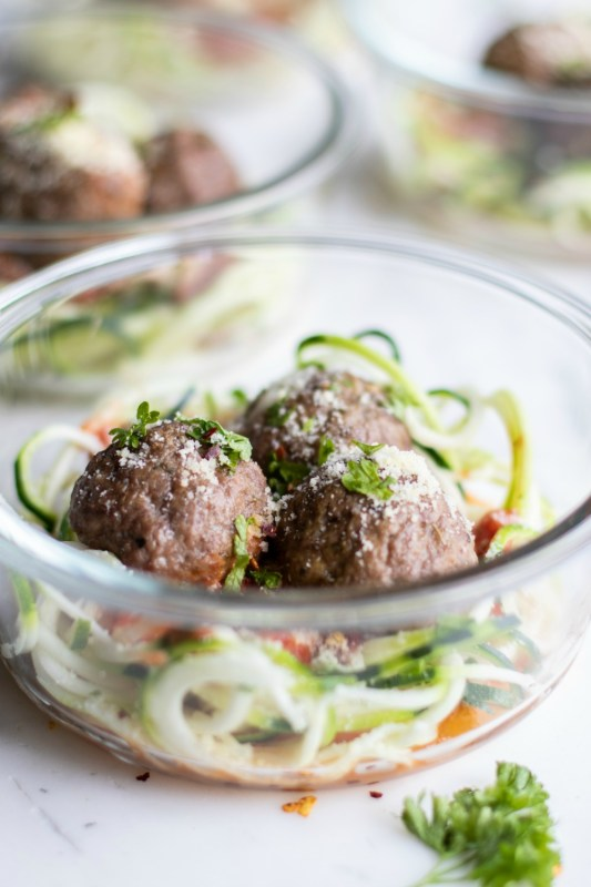 Keto Stuffed Meatball Meal Prep