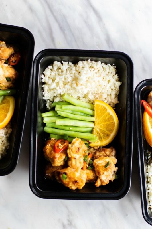 Paleo Orange Chicken Meal Prep