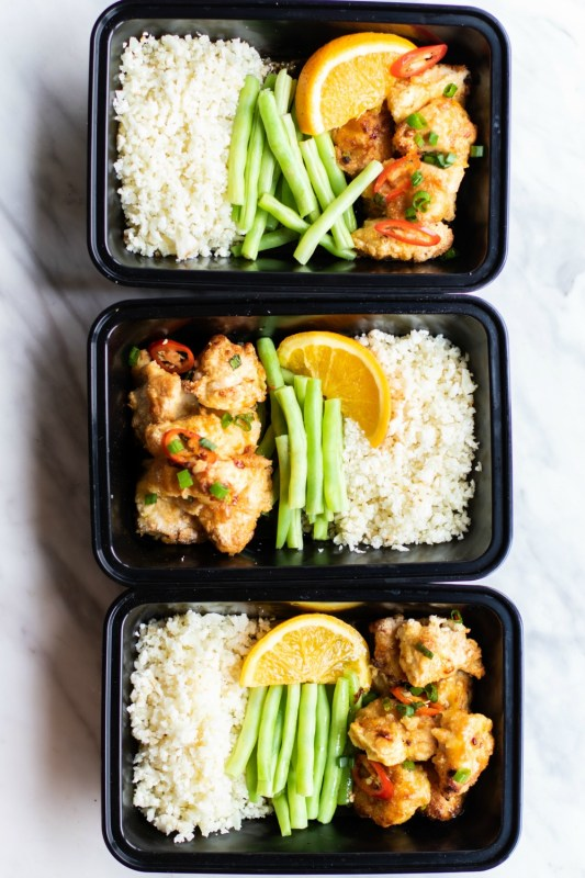 Paleo Orange Chicken Meal Prep