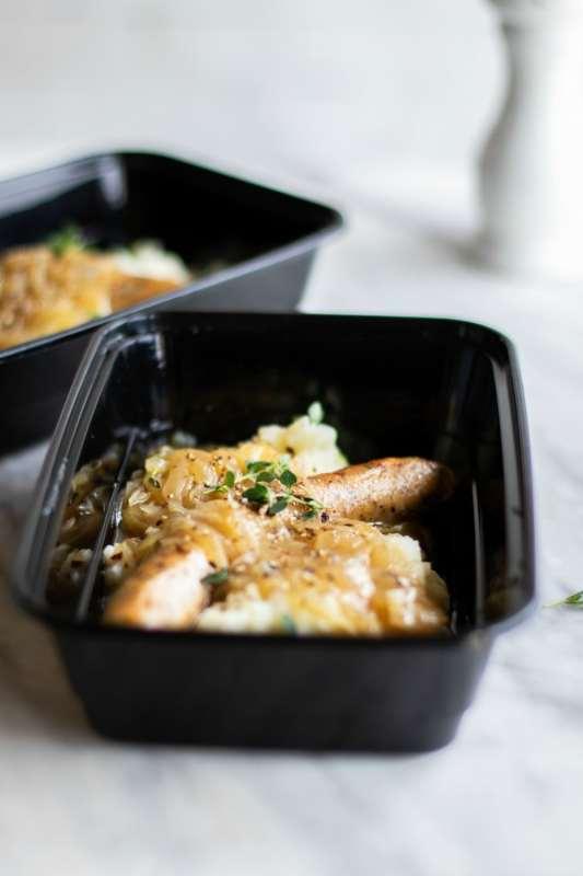 Sausage and Mashed Potato Meal Prep