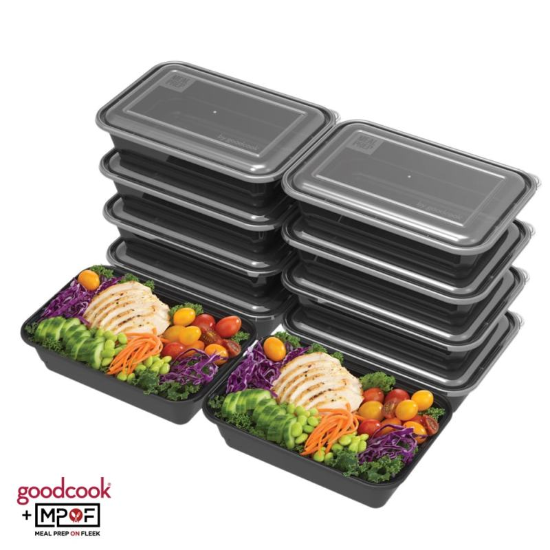 Single Compartment Meal Prep Container Black