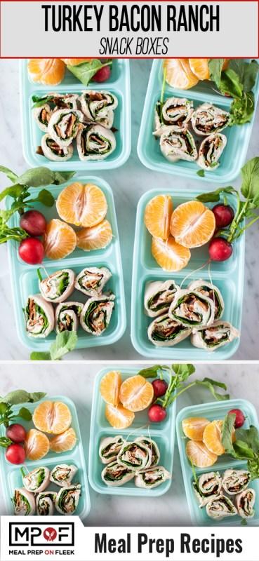 Turkey Bacon Ranch Pinwheel Snack Boxes