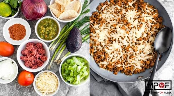 Keto Taco Skillet Meal Prep