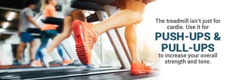 pushups on a treadmill